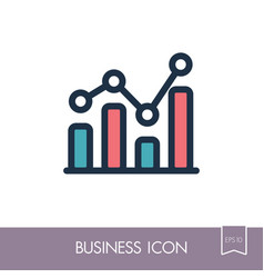 graph in trendy outline icon finances sign vector image vector image