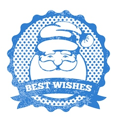 Santa stamp vector image vector image