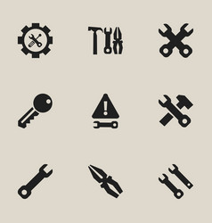 set of 9 editable toolkit icons includes symbols vector image vector image