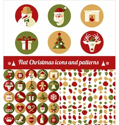 Christmas design icons set vector image vector image