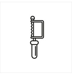 hacksaw icon on white background vector image vector image