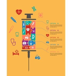 Medicine and healthcare infographic elements vector image