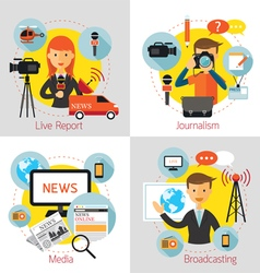 News and Journalism Concept Set vector image
