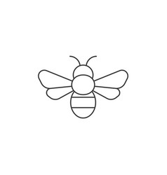 simple bee icon outline icon vector image vector image