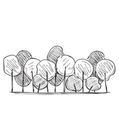 Trees hand drawn vector image