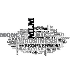 Why most people fail in mlm business text word vector