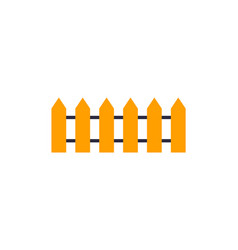 wooden fence icon isolated vector image vector image