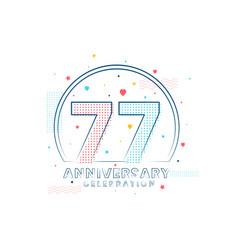 77 years anniversary celebration modern vector