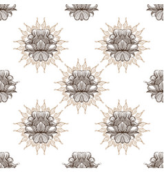 a seamless pattern from the contour drawings of vector image