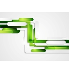 Abstract green geometric corporate tech background vector