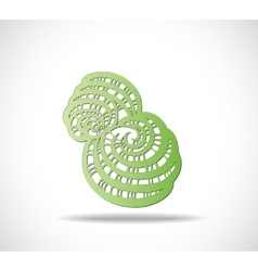 Abstract isolated green shape vector image