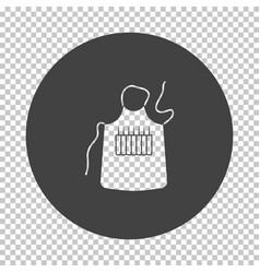 Artist apron icon vector