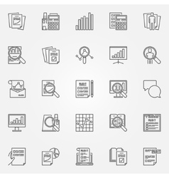 Audit icons set vector
