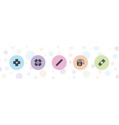 Bandaid icons vector