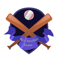 beseball team emblem vector image