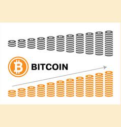 bitcoin symbol in flat design for internet money vector image