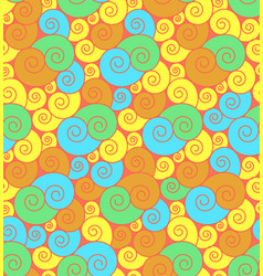 bright curly seamless pattern vector image