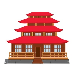 Building of the japanese architecture vector image