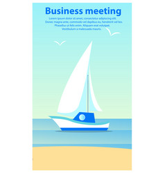 business meeting sailboat vector image