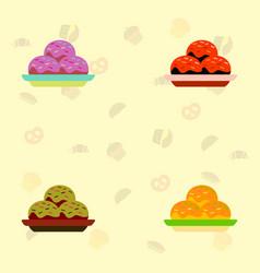 Cake set vector