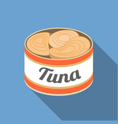 Canned tuna vector