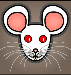 Cartoon white mouse vector image