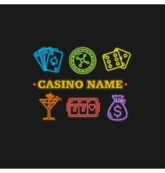 Casino concept neon vector