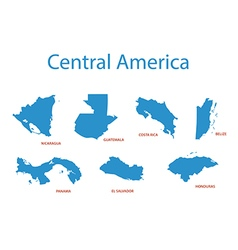 Central america - maps of territories vector