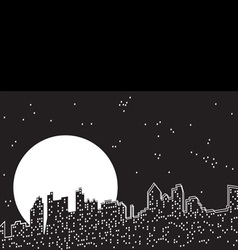 city moon night vector image