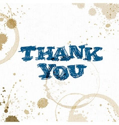 Coffee stains with Thank You phrase Hand drawn vector