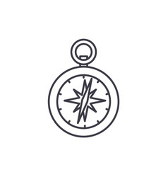 compass line icon concept compass linear vector image