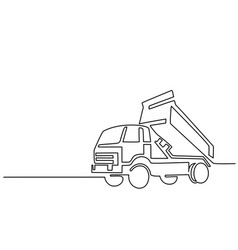 construction truck tipper vector image