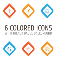 corporate icons set collection of business aim vector image