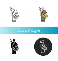 courage icon vector image