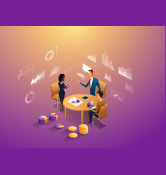 coworkers office concept with characters vector image