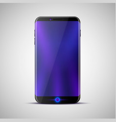 Design a new touchscreen phone vector
