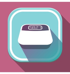 Digital body weighing scale with edible digital vector