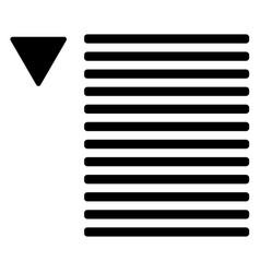 Dropdown list symbol lines text with arrow vector