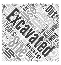 Excavation Word Cloud Concept vector