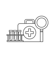 First aid briefcase icon vector