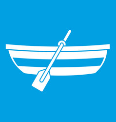 fishing boat icon white vector image