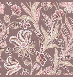 Floral leaf and flower seamless pattern abstract vector
