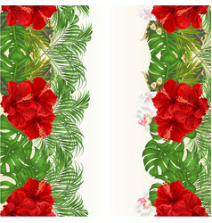 floral vertical border seamless background vector image