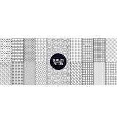 geometric seamless patterns retro 90s graphics vector image