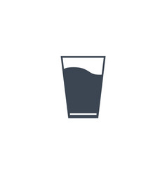 glass water related glyph icon vector image