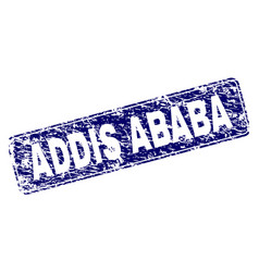 Grunge addis ababa framed rounded rectangle stamp vector