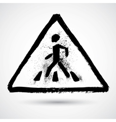 Grunge road sign vector image