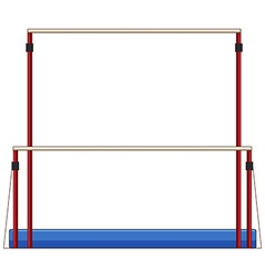 Gymnastics equipment uneven bars vector