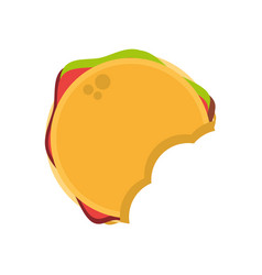 hamburger fast food image vector image