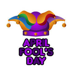 Harlequin hat april fool day vector
